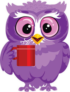 Having a Coffee Owl